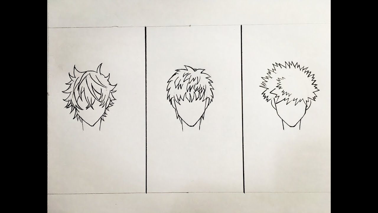 How To Draw Male Anime Hair Youtube