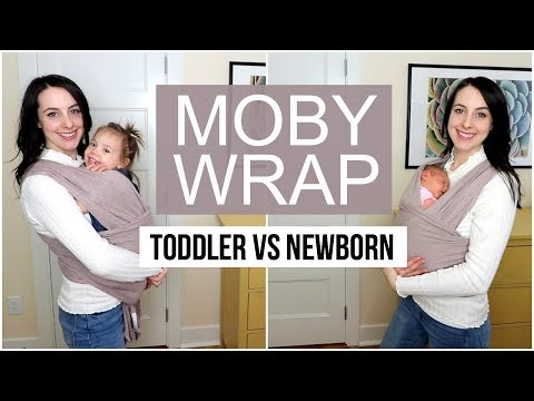 How To: Moby Wrap with a Newborn vs Toddler Tutorial