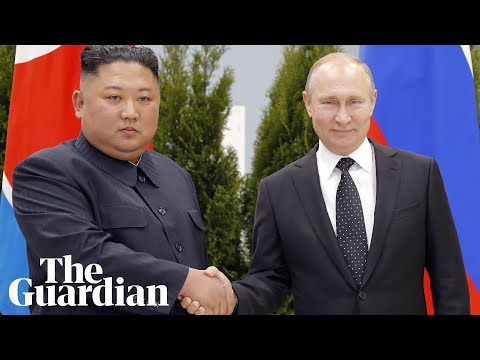 Kim Jong-un and Vladimir Putin meet face to face at Russia summit