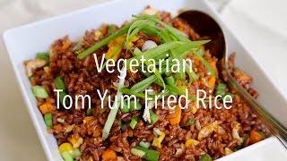Vegetarian Tom Yum Fried Rice