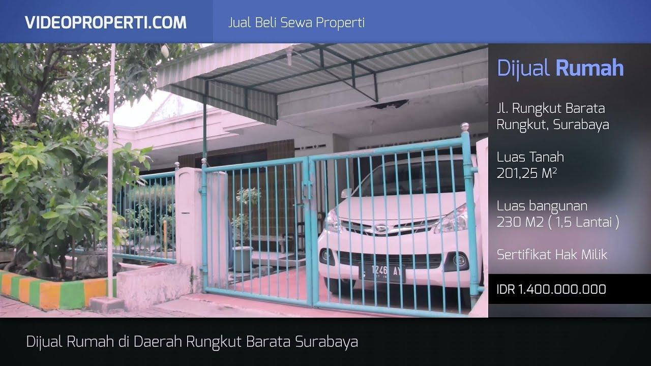 Rumah Dijual Rungkut Barata Surabaya - YouTube