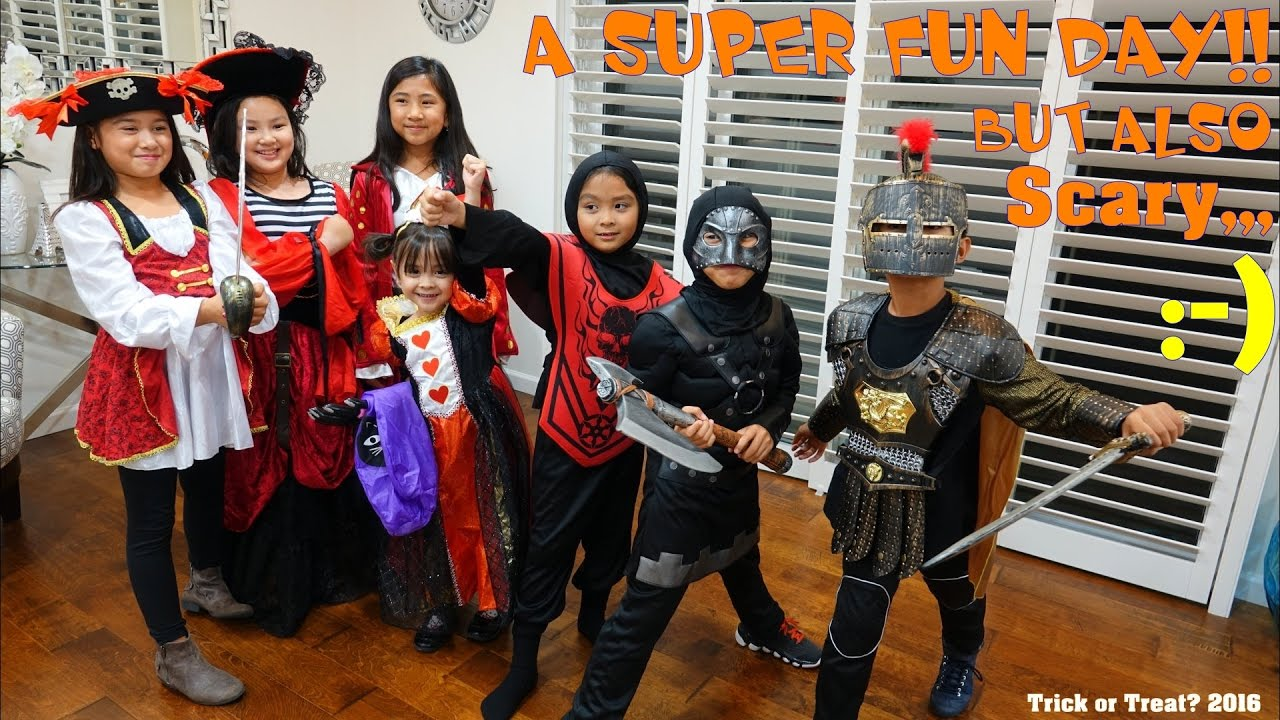 family vlog halloween trick or treat 2016 halloween costumes and decorations hulyan maya youtube