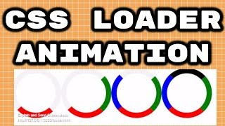 How to Create Pure CSS Loader Animation