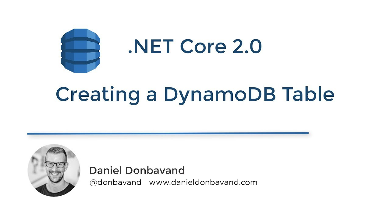 DynamoDB - Creating Tables Using the AWS SDK for  NET in