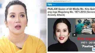 """Kris Aquino Reacts To Article With Title: """"Paalam Queen of All Media"""""""