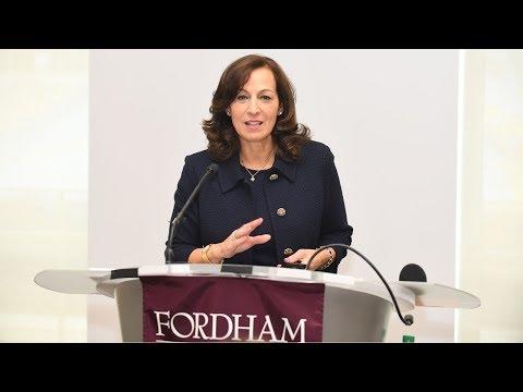 Susan Conley Salice, Philanthropist, speaks at Women's Philanthropy Summit