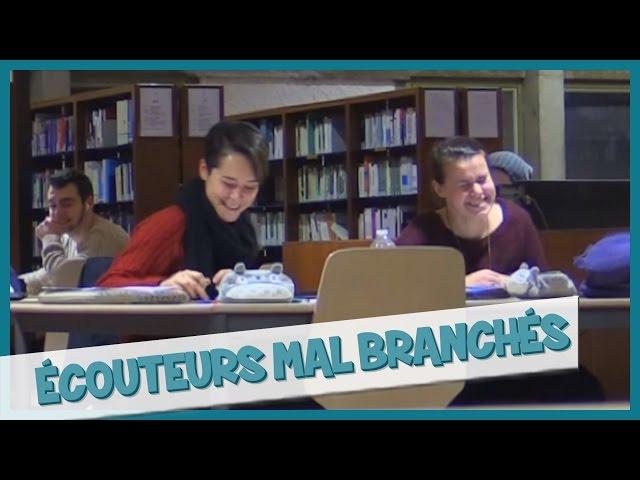 Ecouteurs mals branchés à la BU - Prank - Les Inachevés