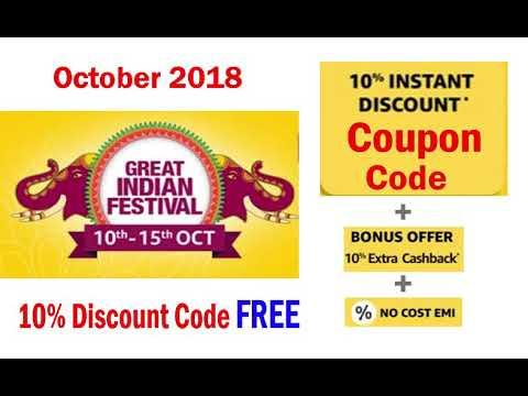 amazon promo code india october 2018