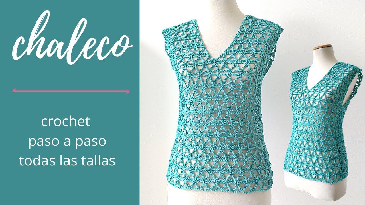 Cómo Tejer Chaleco A Crochet En Todas Las Tallas Paso A Paso Crochet Fácil Y Rápido Youtube