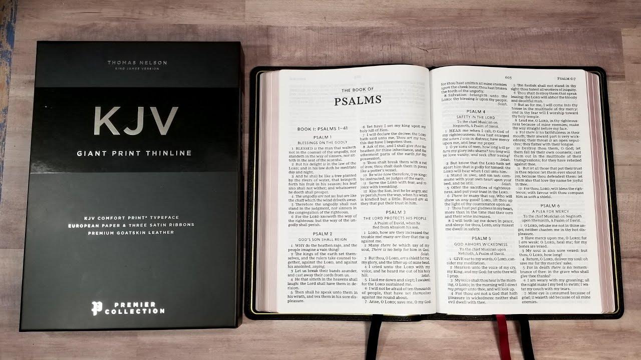 Premier Collection Kjv Giant Print Thinline Bible Youtube