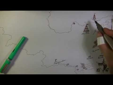 ASMR Fantasy Map Drawing