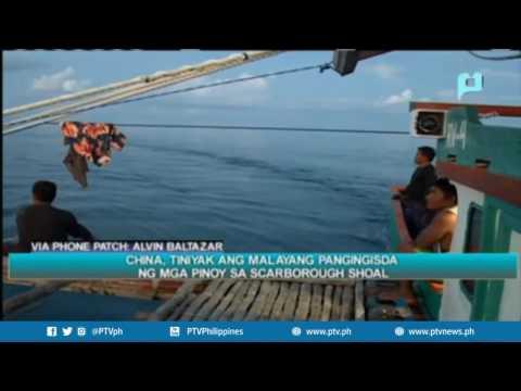 China, tiniyak ang malayang pangingisda ng mga Pinoy sa Scarborough shoal