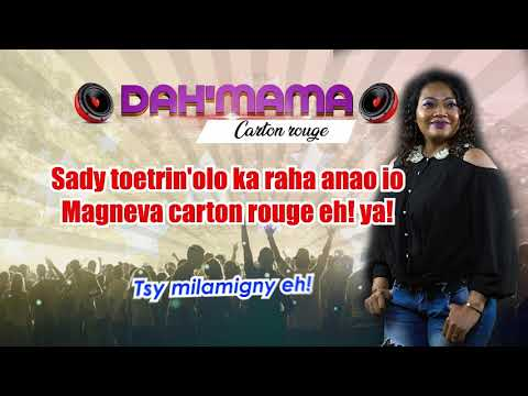 DAH'MAMA CARTON ROUGE lyrics
