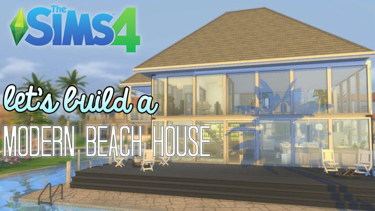 The sims 4 lets build a modern beach house part 1 youtube for Modern house 8 part 6