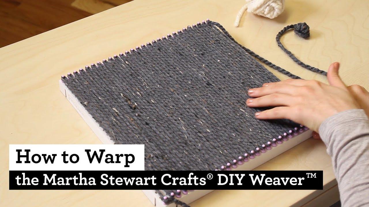 How to Warp the Martha Stewart Crafts® DIY Weaver(TM ...