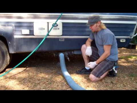 How To Empty An Rv Septic System Youtube