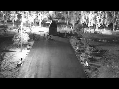 Вандалы на площади Юбилейная в Тайшете