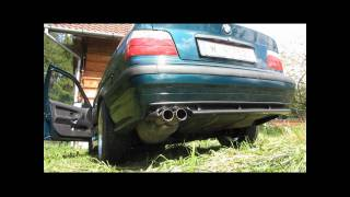 BMW e36 320i with M3 exhaust sound ( before and after )