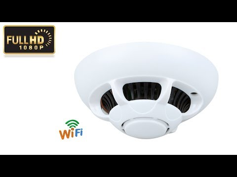 Hd 1080p Wifi Wireless Hidden Camera Smoke Detector Spy Camera For
