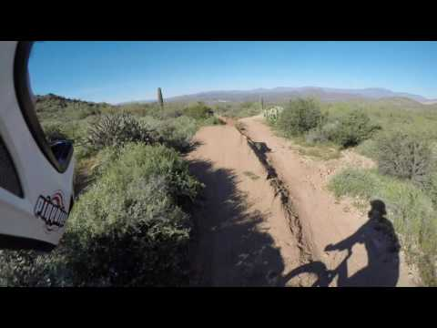 Riding the NRA Pit Downhill Mountain Bike Trails in Mesa AZ