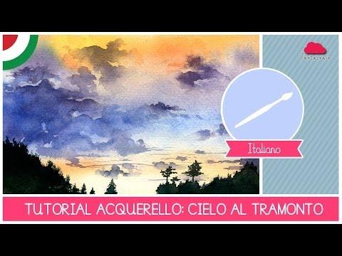 Corso Di Acquerello BASE: Tutorial Come Dipingere Un Cielo Al Tramonto - LEZIONE 06