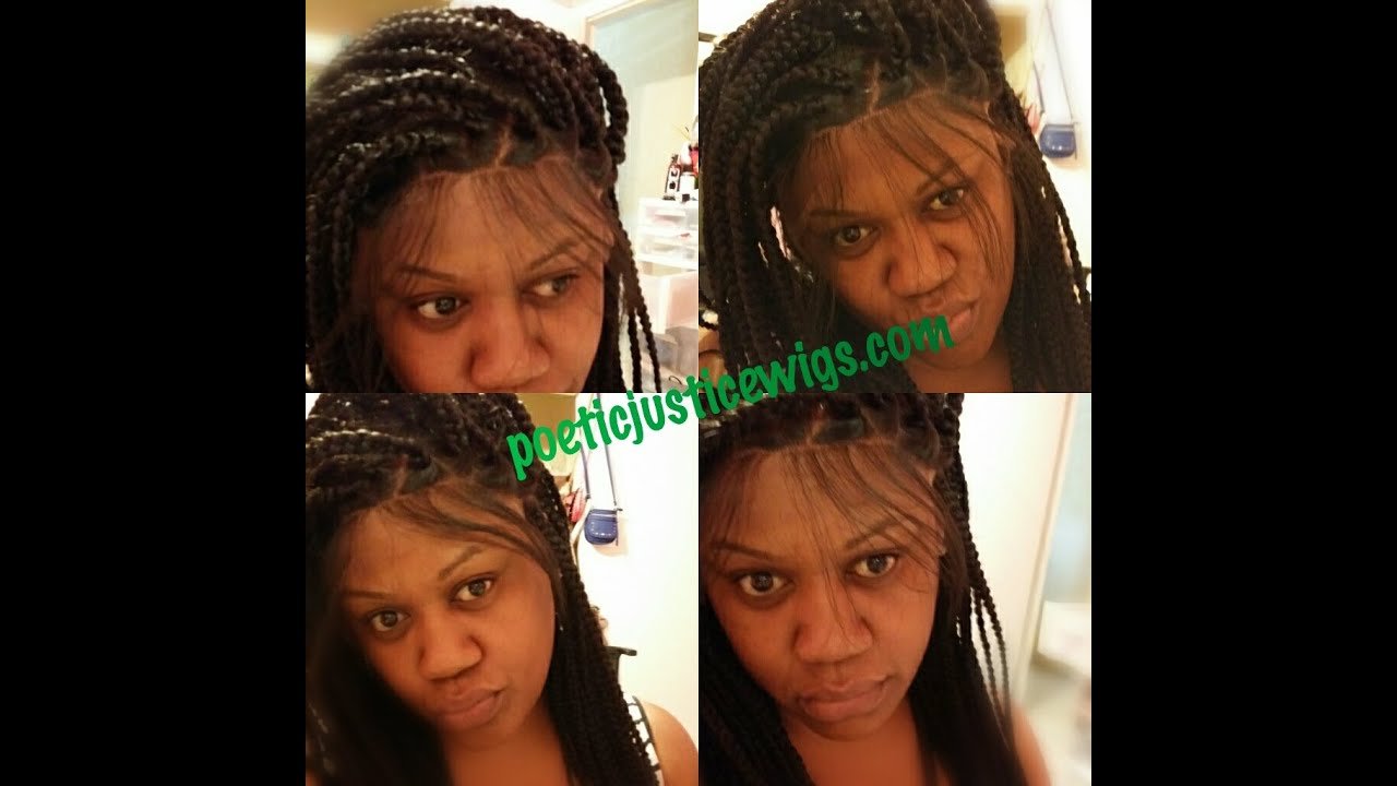 Poetic Justice Box Braided Lace Front Wig Youtube