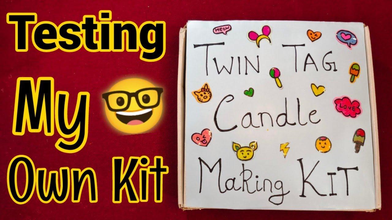 Testing Twin Tag Candle Making kit 🤓🤩 DIY Homemade Candles!! How to make candles at home/diy candles