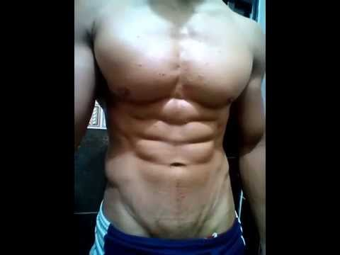 Posing Young ADONIS Bounce Massive Chest Pecs, Ripped Abs #Flexing