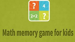 Math memory game for kids