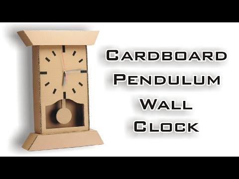 How to Make Wall Mounted Pendulum Clock Using Cardboard