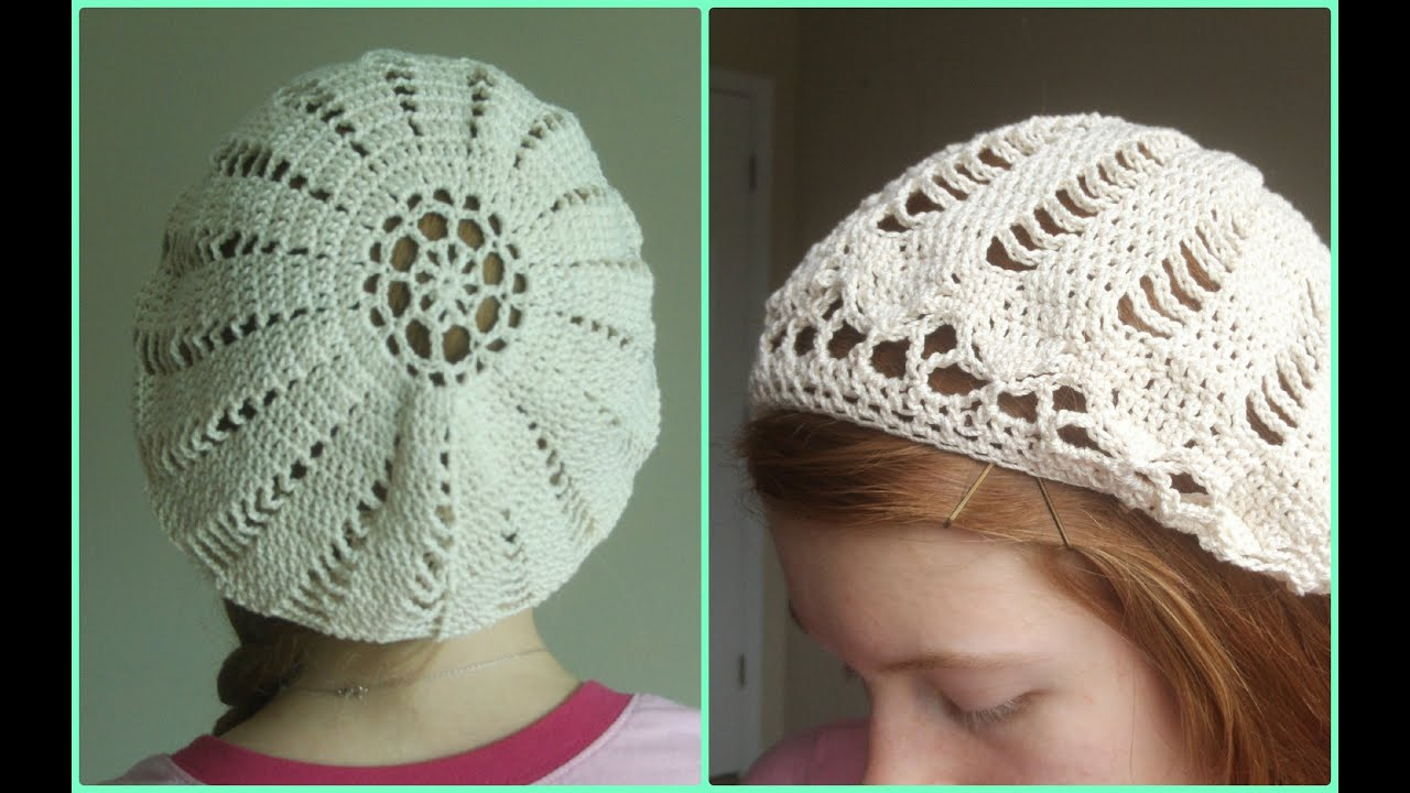 146e21c97f5 How to Crochet a Cotton Beret - Part 2 - YouTube