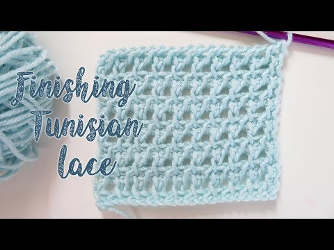 How To Finish Tunisian Crochet