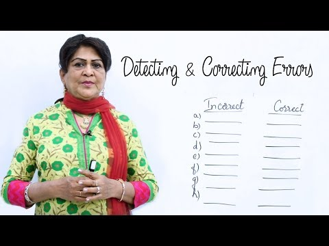 Detecting & Correcting Errors-Editing | English Grammar Lessons for Beginners | English Speaking