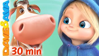 🐄 Lola The Cow | Nursery Rhymes & Kids Songs | Dave and Ava 🐄