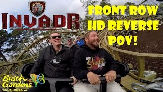 Invadr Busch Gardens Williamsburg Front Row Reverse POV