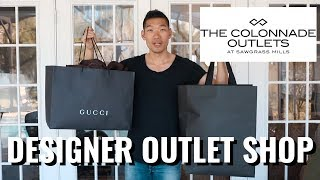 75% OFF DESIGNER OUTLET SHOPPING! GUCCI YSL \u0026 MORE | Shop With Me - Levitate Style