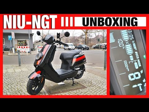 NIU-NGT 2019 UNBOXING, Ladevorgang, Eroller, Escooter, Anleitung, Test, Review , N1S, NPro,(DEU-GER)