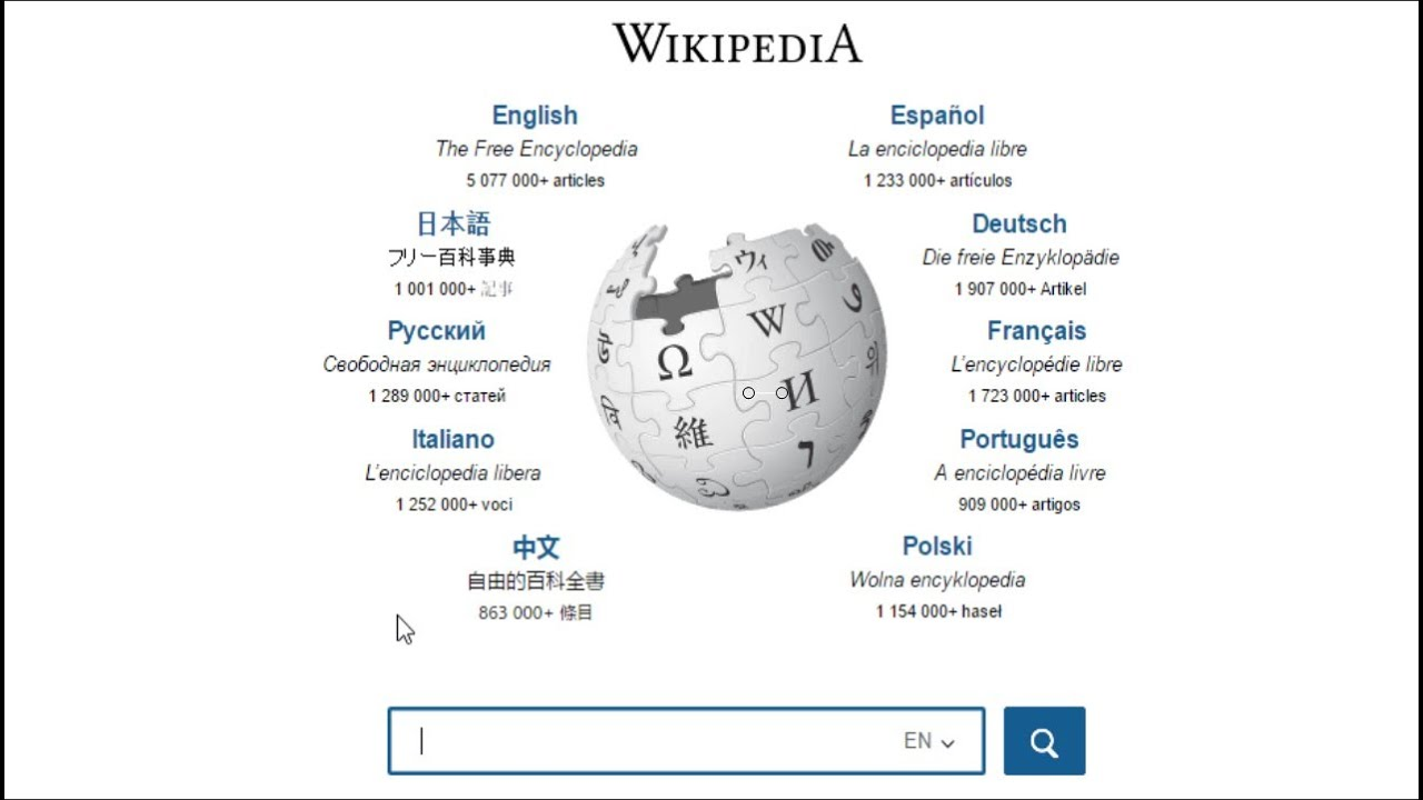 wwwwikipediacom English Search YouTube