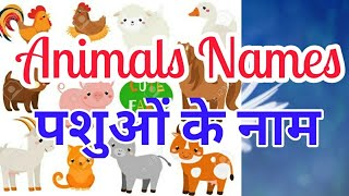 Learn Animals Names with pictures in English and Hindi (पशुओं के नाम)