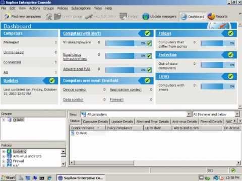 Installation Of Sophos Enterprise Console 4.5 On Windows 2008 32bit