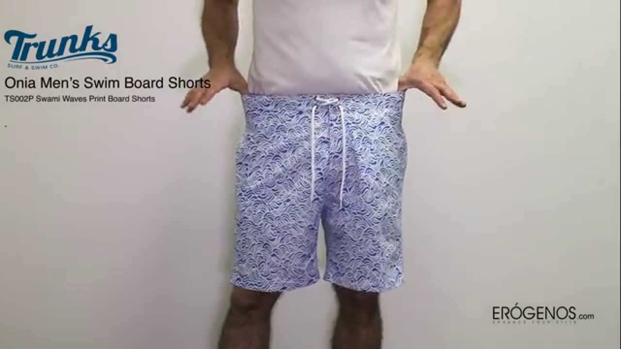 aeff904abf Trunks Surf & Swim Co. White and blue waves print swimming shorts ...
