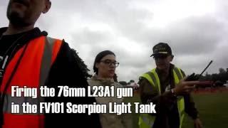 fired my first tank gun fv101 scorpion tank