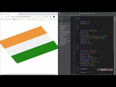 Waving Flag Animation Effects - Pure Html CSS Animated Flag - Tutorial