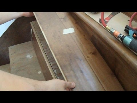 Prefinished Stair Treads Installation How To Measure Mark And Cut | Prefab Oak Stair Treads | Red Oak | Hardwood Flooring | Stair Parts | Stain | Floating Staircase