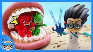 PJ Masks meet the monster. Rescue the PJ Masks from Romeo.