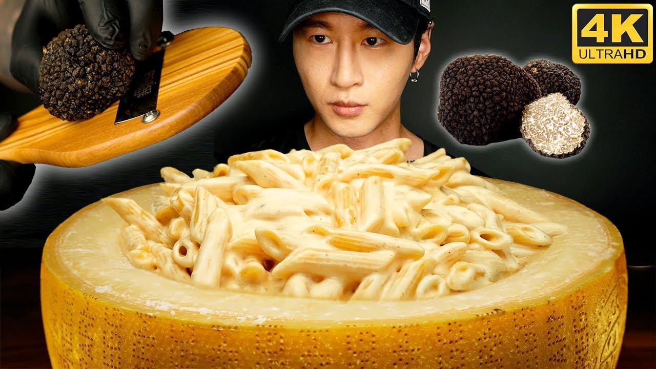 ASMR CHEESE WHEEL MAC & CHEESE MUKBANG 먹방 | COOKING & EATING SOUNDS | Zach Choi ASMR