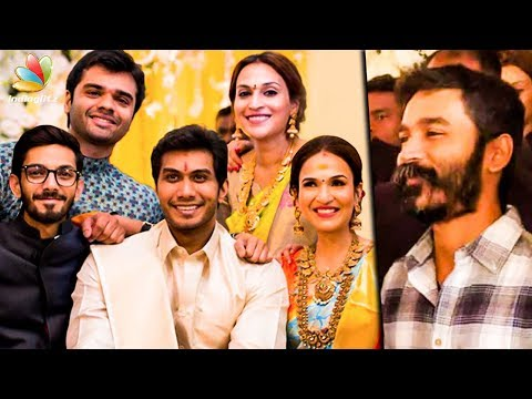 Dhanush & Anirudh at Soundarya Rajinikanth Wedding Reception | Vishagan Vanangamudi | Marriage Video