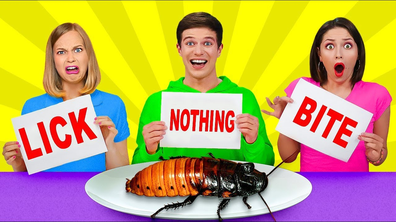 Download LICK, BITE OR NOTHING CHALLENGE    Last to Stop Eating Wins! Cool Pranks by RATATA!