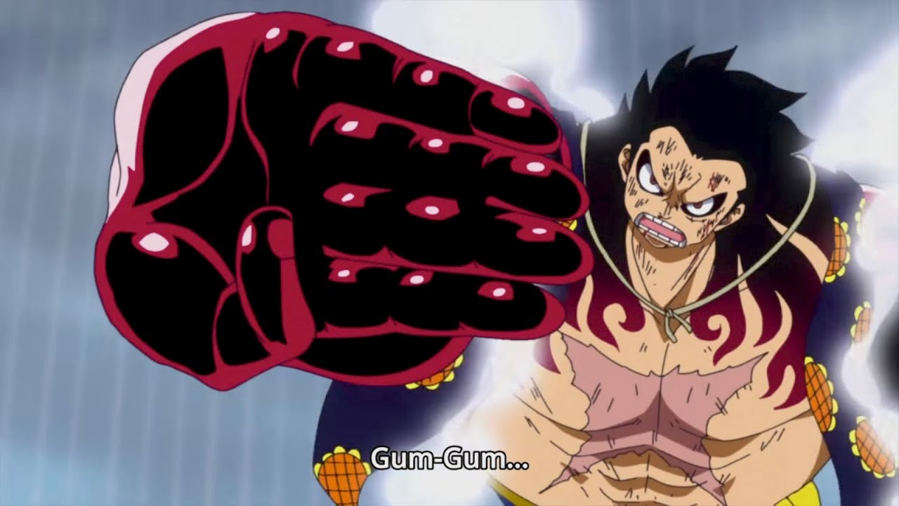 luffy vs. doflamingo | gear 4! (bounce-man) | one piece - episode