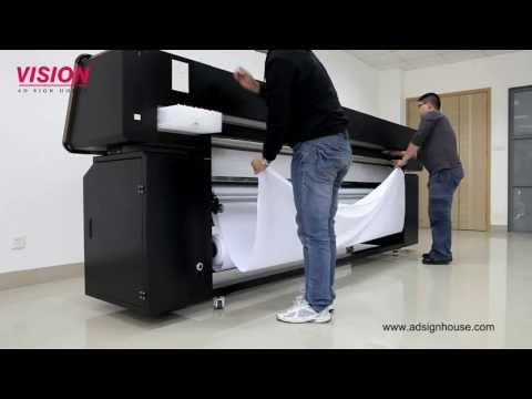 Direct Printing on Fabric Textile Printer VS-2602TX with EPSON DX5 Print Head